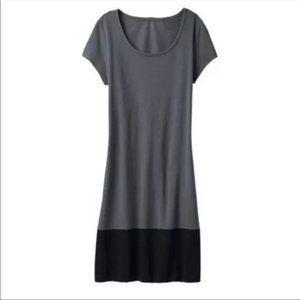 ATHLETA Ella Colorblock T Shirt Dress Small Gray